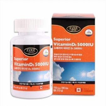 슈페리어 비타민D 150mg*180캡슐