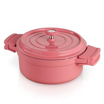 [베카] IH 쿡온 원형냄비16cm(핑크)