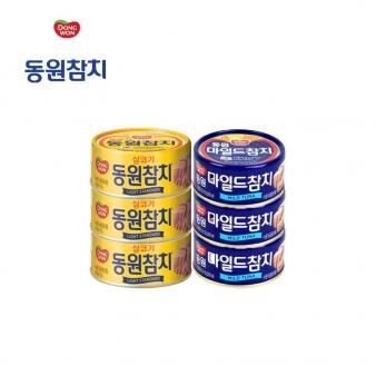[동원] 동원참치 150g(살코기3+마일드3) * 6