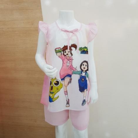 신비아파트 브릿 여아 6부잠옷세트(핑크)