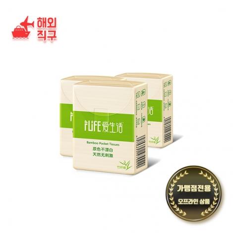 [해외직구]애생활 대나무 휴대용 휴지10개