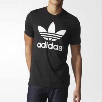 아디다스 트레포일 티셔츠 BLACK