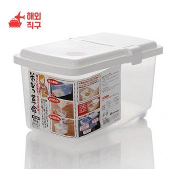 [해외직구]inomata 일본은 쌀 버킷 추 쌀 상자 저장 제어 수분 5kg migang 10kg 플라스틱 배럴 장착 밀가루를 수입 (5kg)
