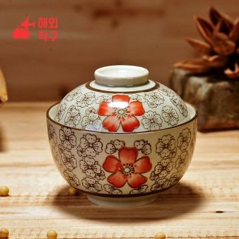 [해외직구]일본 식 덮은 도자기 그릇 찜 디저트 주방 조리 기구