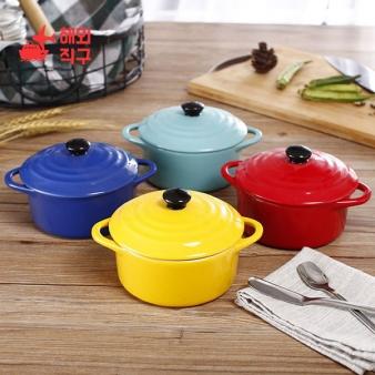 [해외직구]단색 절연 양귀그릇 사발 푸딩그릇 에그그릇 350 ml