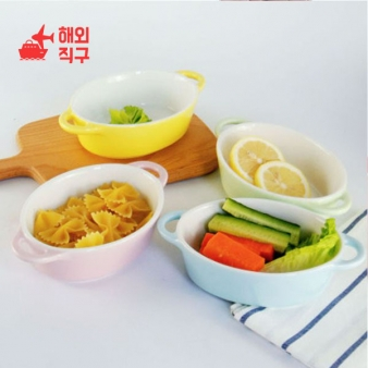 [해외직구]캔디 컬러 세라믹 베이킹 400ml 가정용 그릇