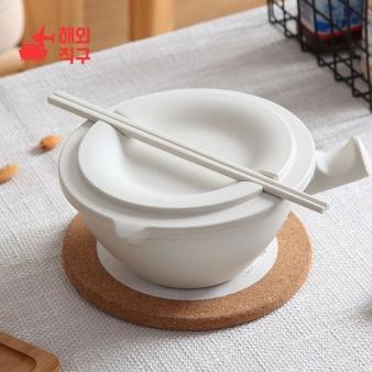 [해외직구]도자기 큰 그릇 학생 기숙사 라면그릇 식기세트