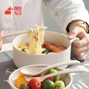 [해외직구]일본식 학생 기숙사 라면그릇 젓가락 식기세트