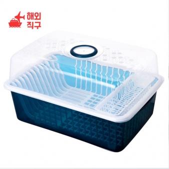 [해외직구]뚜껑수납 식기수납 식기건조대 주방잡화 생활용품