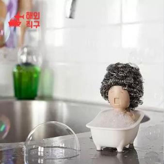 [해외직구]목욕하는 아줌마 주방 철 수세미 거치랙 수납대 잡화