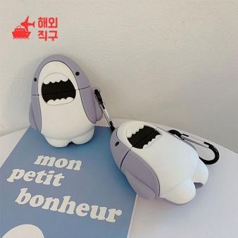 [해외직구]Airpods1/2 실리콘 케이스 상어