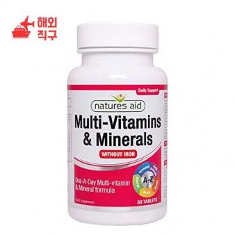 [해외직구]Natures Aid 멀티 비타민 및 미네랄 60 정