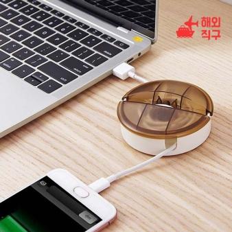 [해외직구]데이터 라인 수납 박스 가정용 데스크톱 이어폰