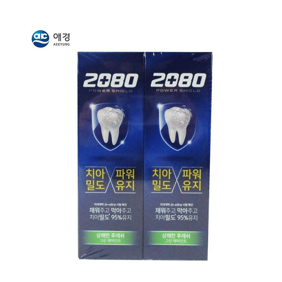 [애경] 2080치약 그린페퍼민트 120g*2