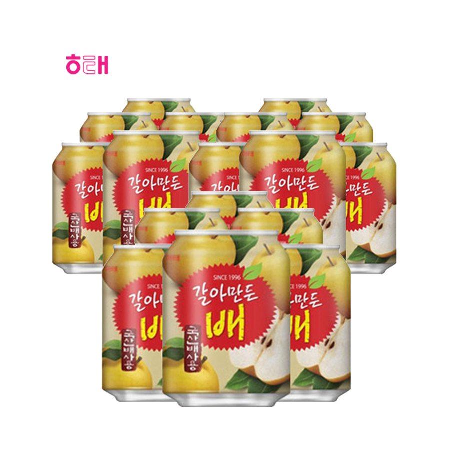 [해태] 갈아만든배(캔) 238ml*12*6