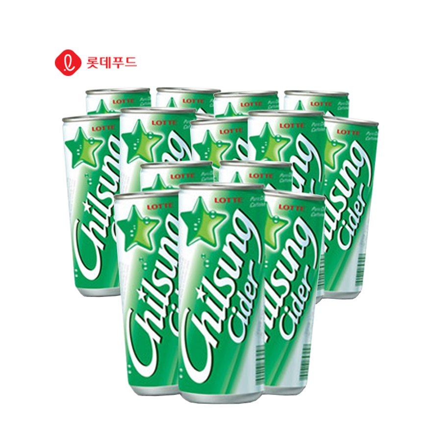[롯데칠성] 칠성사이다(캔) 250ml*30
